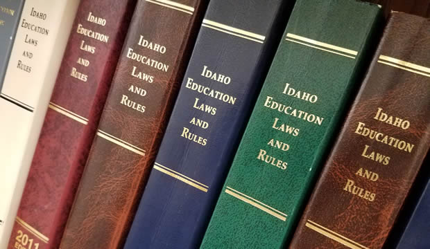 education laws bookshelf